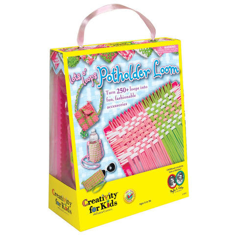 Creativity For Kids Lots o'Loops Potholder Loom - Craft Kits - Anglo Dutch Pools and Toys