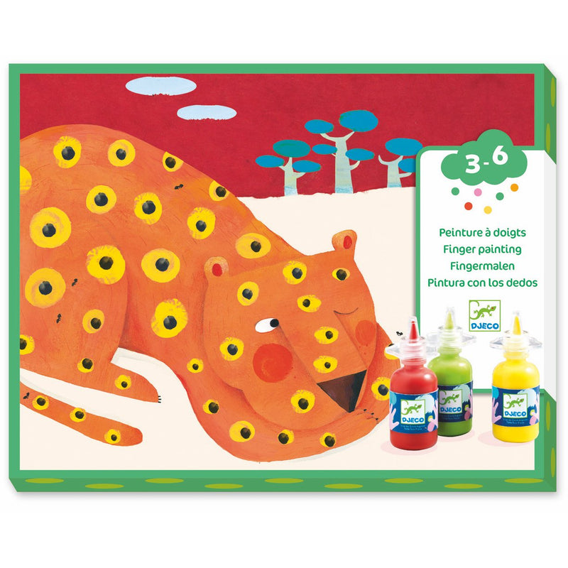 Djeco Finger Tracks Animal Finger Painting - Craft Kits - Anglo Dutch Pools and Toys