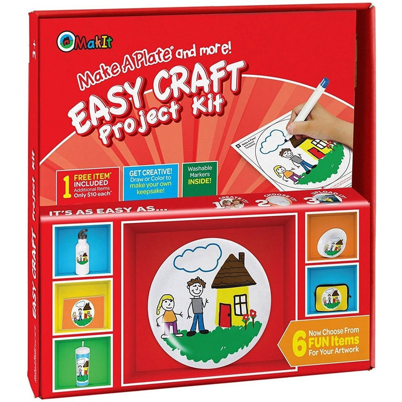 Craft Kits - Make A Plate And More - Easy Craft Project Kit