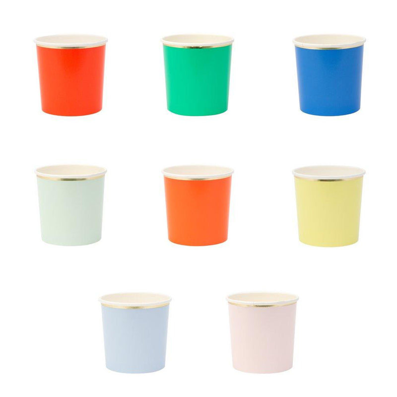 Cups And Straws - Meri Meri Party Palette Tumbler Cups