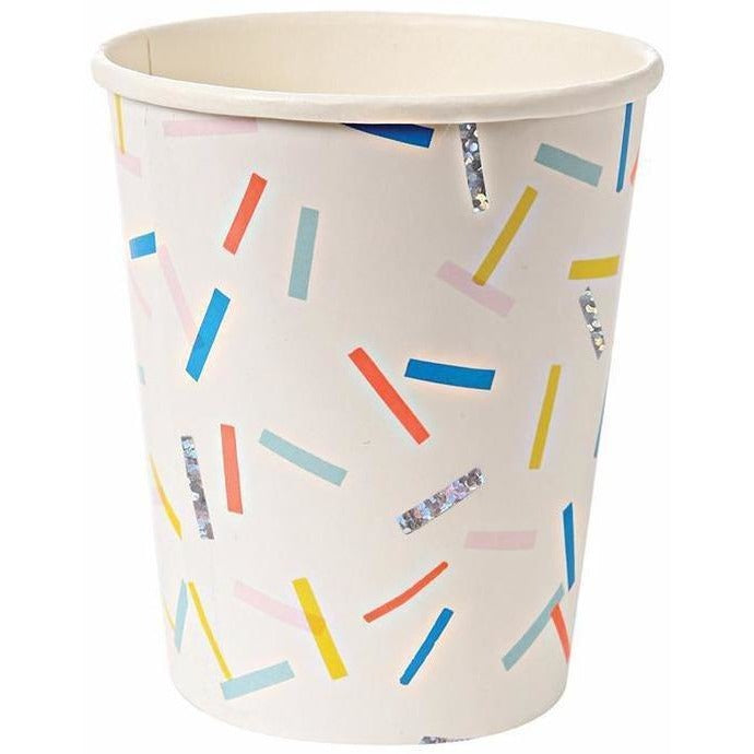 Cups And Straws - Meri Meri Sprinkles Party Cups