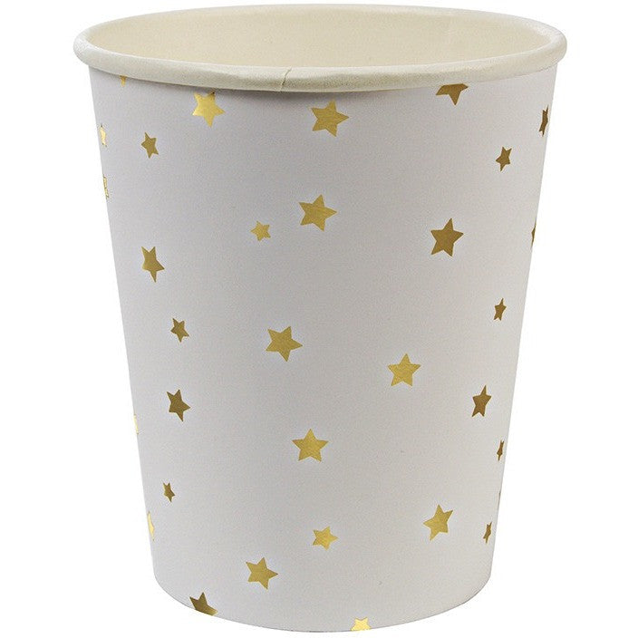 Meri Meri Toot Sweet Gold Star Pattern Party Cup - Cups and Straws - Anglo Dutch Pools and Toys