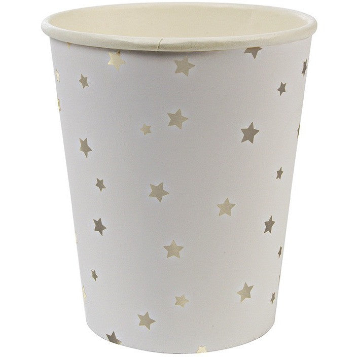 Meri Meri Toot Sweet Silver Star Pattern Party Cup - Cups and Straws - Anglo Dutch Pools and Toys