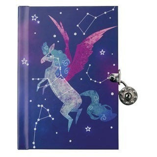Diaries And Journals - Mudpuppy Constellations Locked Diary
