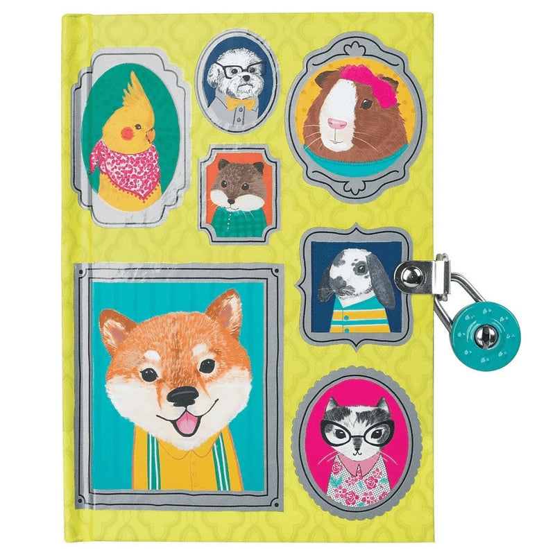 Diaries And Journals - Mudpuppy Pet Portraits Locked Diary