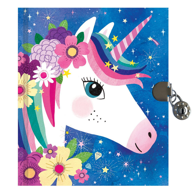 Diaries And Journals - Mudpuppy Unicorn Locked Diary