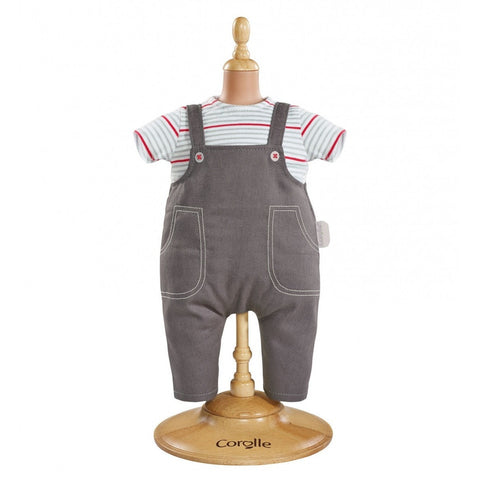 Corolle Smock & Denim Overalls for 12-inch baby doll - Doll Accessories - Anglo Dutch Pools and Toys
