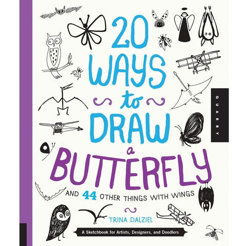 20 Ways to Draw a Butterfly and 44 Other Things with Wings - Drawing and Activity Books - Anglo Dutch Pools and Toys