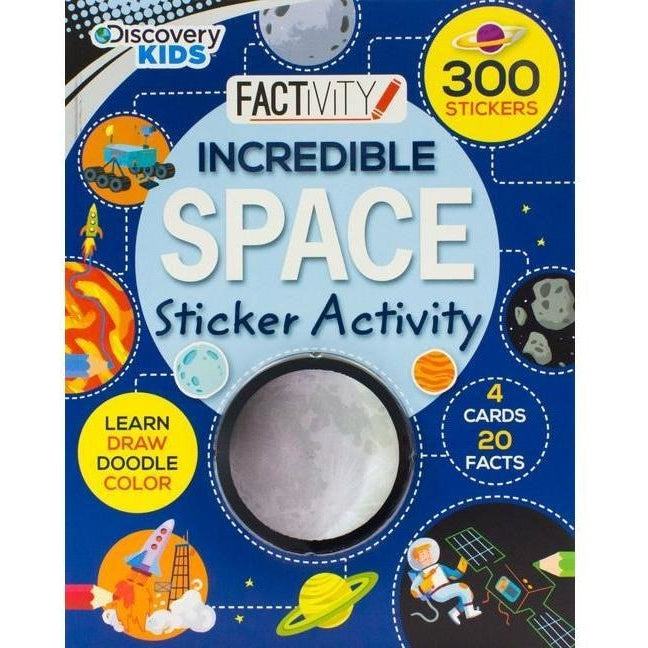 Drawing And Activity Books - Discovery Kids Incredible Space Sticker Activity Book