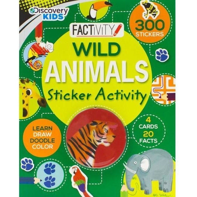 Drawing And Activity Books - Discovery Kids Wild Animals Sticker Activity Book