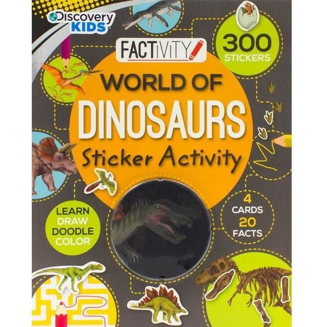 Drawing And Activity Books - Discovery Kids World Of Dinosaurs Sticker Activity Book