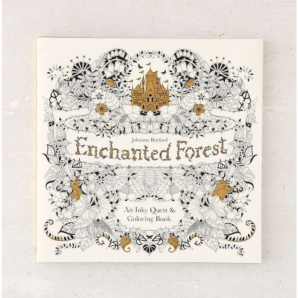 Enchanted forest coloring book youtube - Enchanted Forest An Inky Quest Coloring Book Drawing And Activity Books Anglo