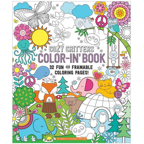 International Arrivals Color-in' Cozy Critters Book - Drawing and Activity Books - Anglo Dutch Pools and Toys