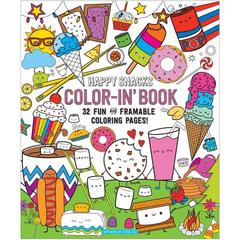 International Arrivals Color-in' Happy Snacks Book - Drawing and Activity Books - Anglo Dutch Pools and Toys