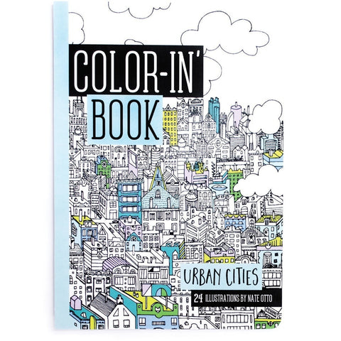 International Arrivals Urban Cities Travel Size Color-in' Book