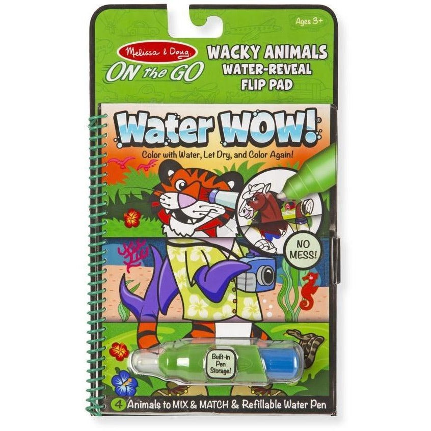 Melissa & Doug Wacky Animals Water WOW! | Drawing and Activity Books