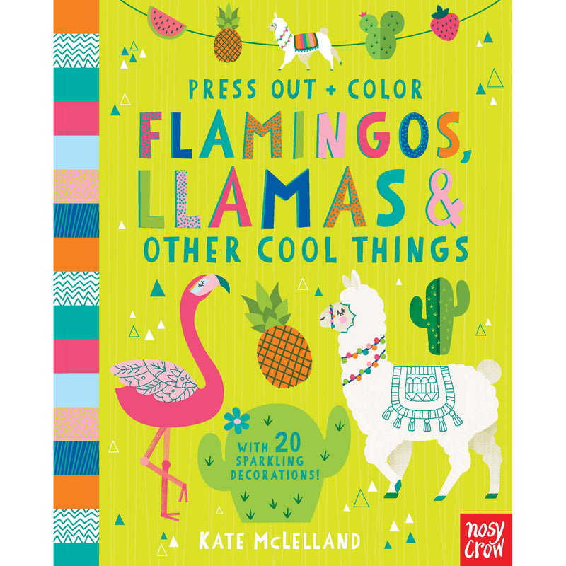 Drawing And Activity Books - Press Out And Color: Flamingos, Llamas & Other Cool Things