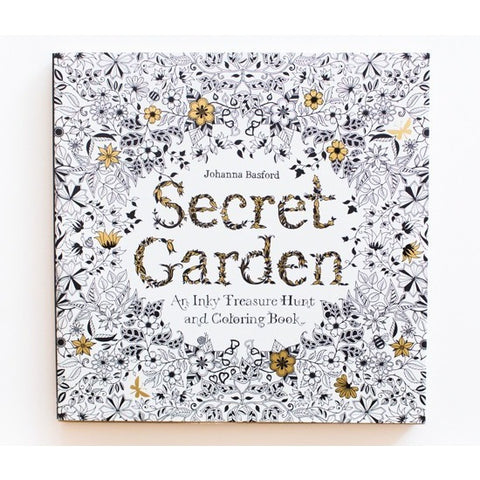 Secret Garden: An Inky Treasure Hunt and Coloring Book - Drawing and Activity Books - Anglo Dutch Pools and Toys