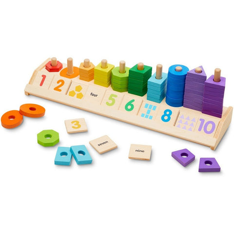 Melissa & Doug Counting Shape Stacker- - Anglo Dutch Pools & Toys  - 1