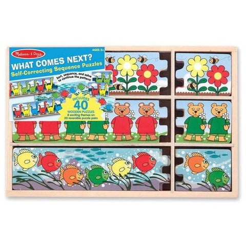 Melissa & Doug What Comes Next? Self-Correcting Sequence Puzzles- - Anglo Dutch Pools & Toys  - 1