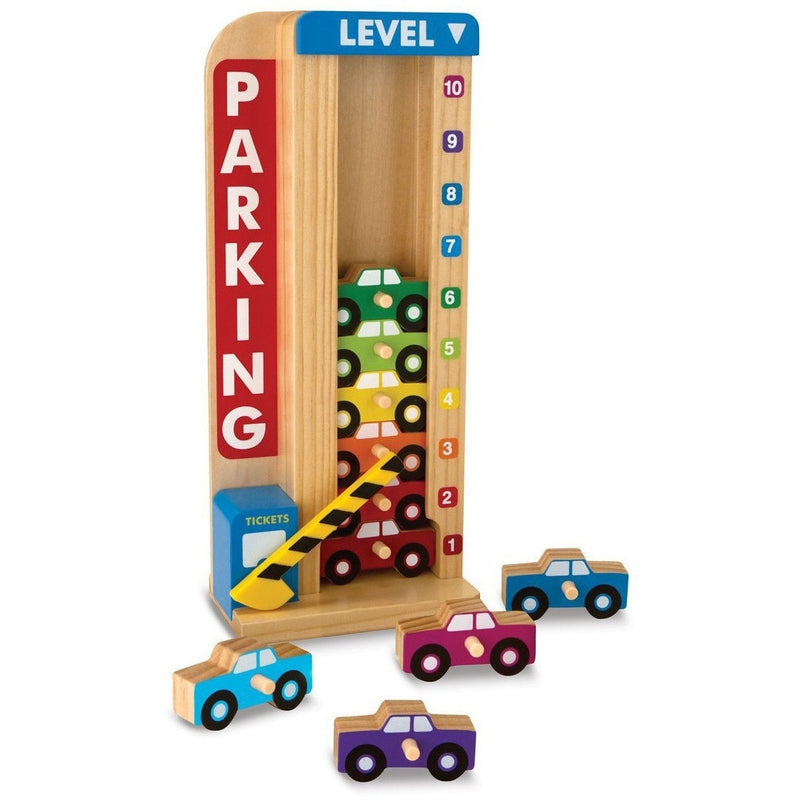 Melissa & Doug Wooden Stack & Count Parking Garage- - Anglo Dutch Pools & Toys  - 1