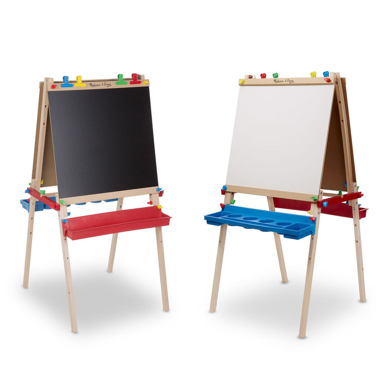 Easels, Chalkboards, And Whiteboards - Melissa & Doug Deluxe Wooden Standing Art Easel