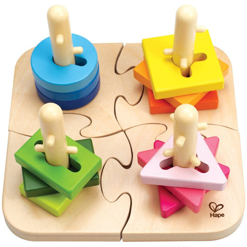 Hape Creative Peg Puzzle- - Anglo Dutch Pools & Toys  - 1