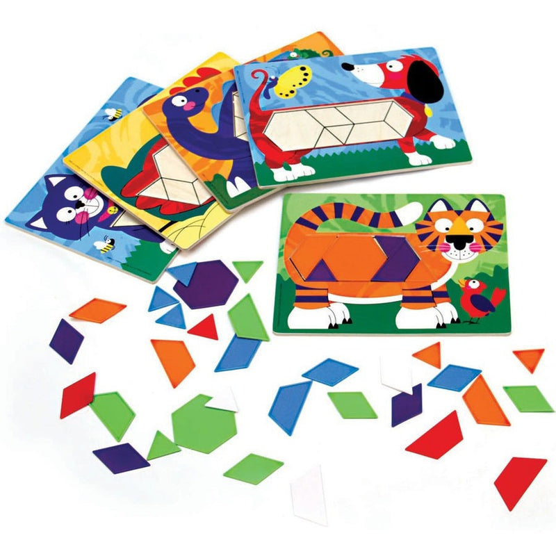 Melissa & Doug Animal Pattern Blocks Set - Early Learning - Anglo Dutch Pools and Toys