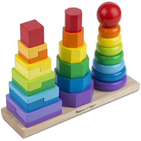 Melissa & Doug Geometric Stacker- - Anglo Dutch Pools & Toys  - 1