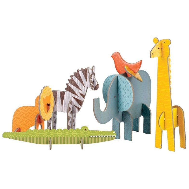 Petit Collage Safari Pop-out and Play - Early Learning - Anglo Dutch Pools and Toys