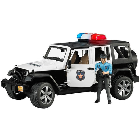 Bruder Jeep Wrangler Unlimited Rubicon Police Car with Policeman- - Anglo Dutch Pools & Toys  - 1
