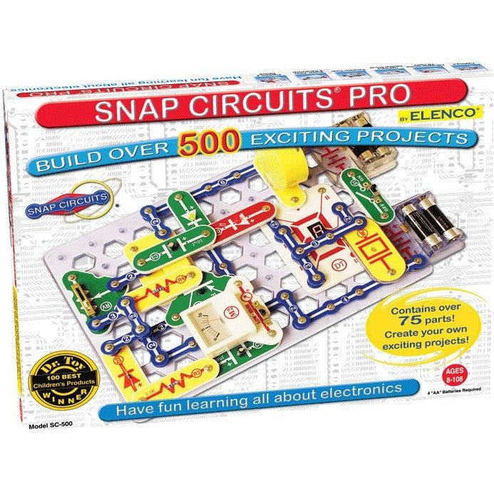 Snap Circuits PRO SC-500 Electronics Discovery Kit - Engineering Toys - Anglo Dutch Pools and Toys