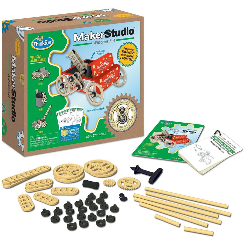 ThinkFun Maker Studio - Winches Building Kit - Engineering Toys - Anglo Dutch Pools and Toys