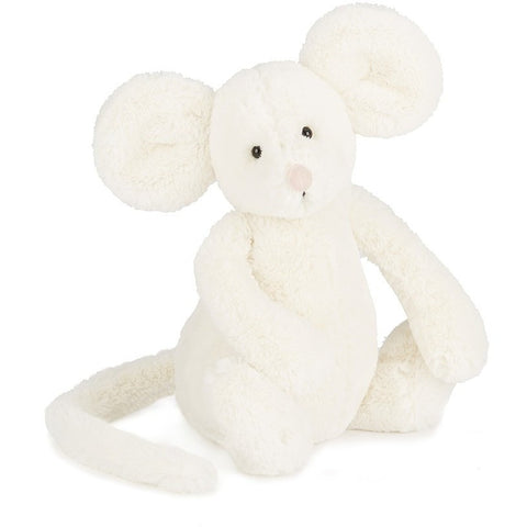 "Jellycat Bashful Cream Mouse Medium 12"" - Farm and Forest Animals - Anglo Dutch Pools and Toys"