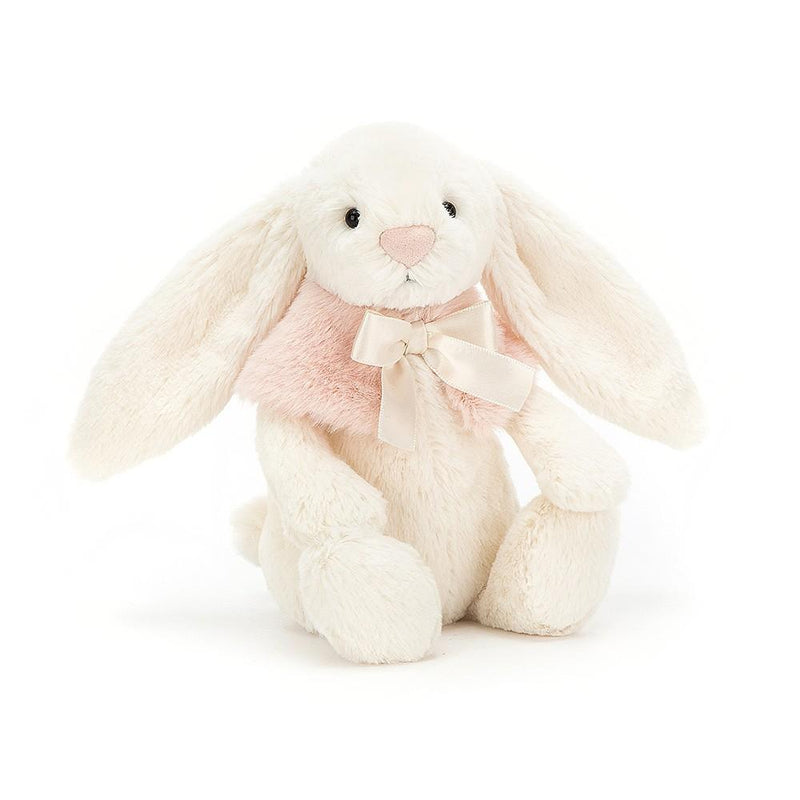 Farm And Forest Animals - Jellycat Bashful Cream Snow Bunny 7""