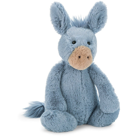 "Jellycat Bashful Donkey Medium 12"" - Farm and Forest Animals - Anglo Dutch Pools and Toys"