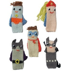 Blabla Super Hero Finger Puppet Set - Finger Puppets - Anglo Dutch Pools and Toys