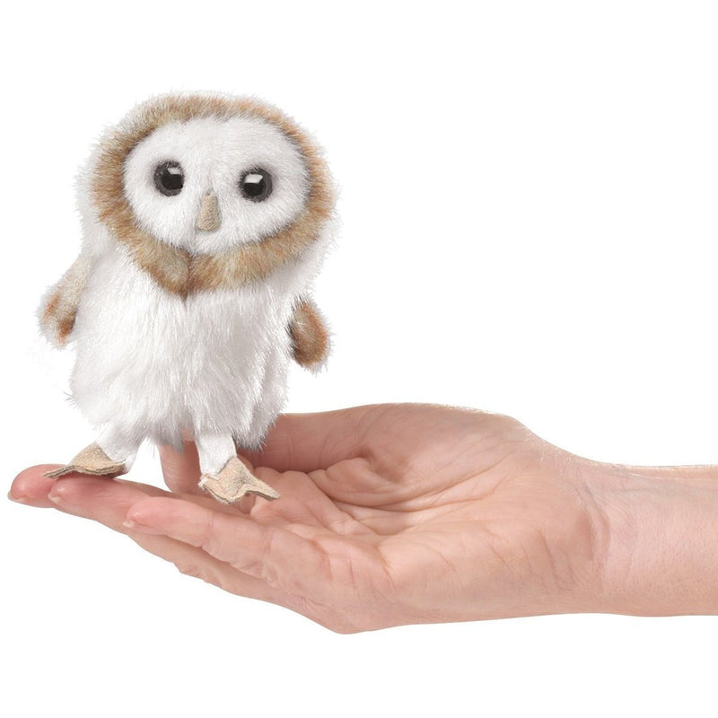 Folkmanis Mini Barn Owl Finger Puppet - Finger Puppets - Anglo Dutch Pools and Toys