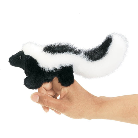 Folkmanis Mini Skunk Finger Puppet- - Anglo Dutch Pools & Toys
