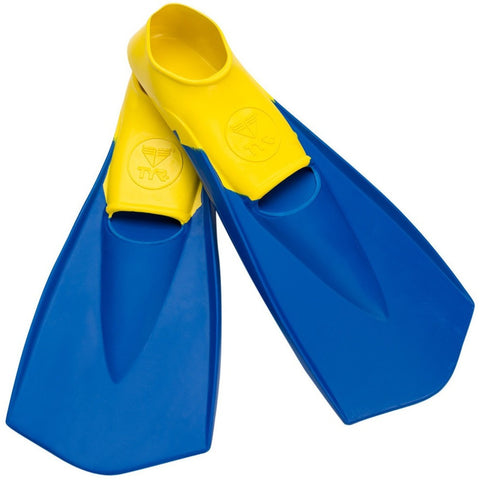TYR Flexfins Swim Fins- XS | Yellow/Blue | Size 3-5 (Youth)- Anglo Dutch Pools & Toys  - 4