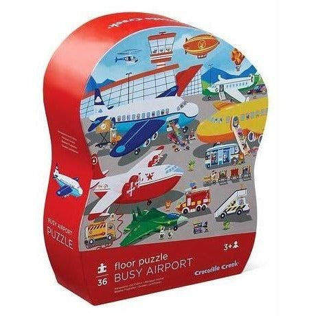 Floor Puzzles - Crocodile Creek Busy Airport Shaped Floor Puzzle