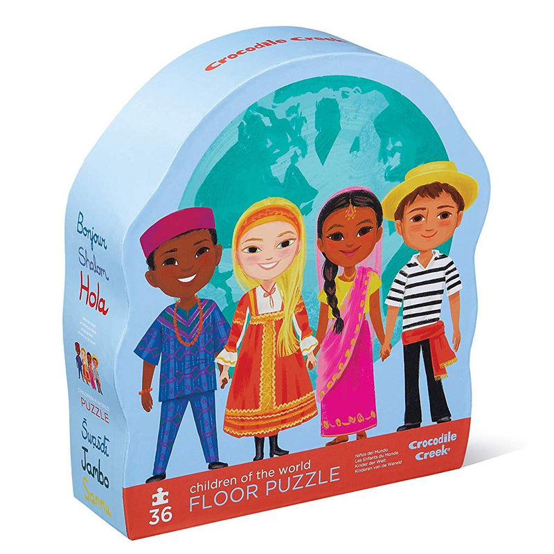 Floor Puzzles - Crocodile Creek Children Of The World Shaped Floor Puzzle