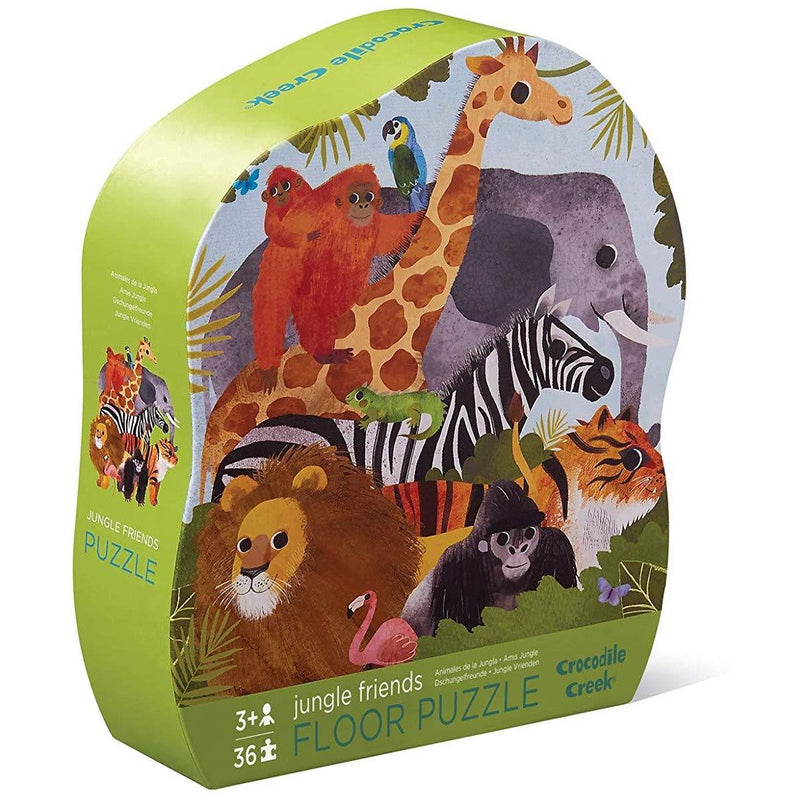 Floor Puzzles - Crocodile Creek Jungle Friends Shaped Floor Puzzle
