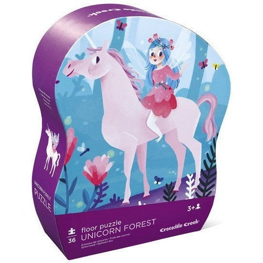 Floor Puzzles - Crocodile Creek Unicorn Forest Shaped Floor Puzzle