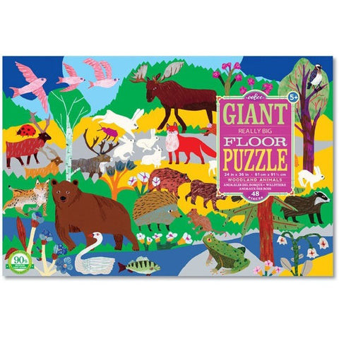eeBoo Woodland Animals Giant Puzzle - Floor Puzzles - Anglo Dutch Pools and Toys