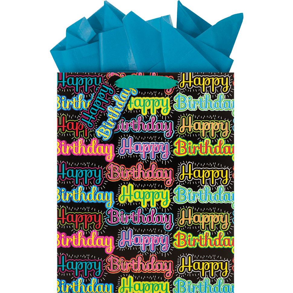The Gift Wrap Company Be Bold Birthday Large Tote Bag