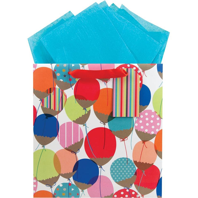 The Gift Wrap Company Glitter Balloon Medium Square Bag