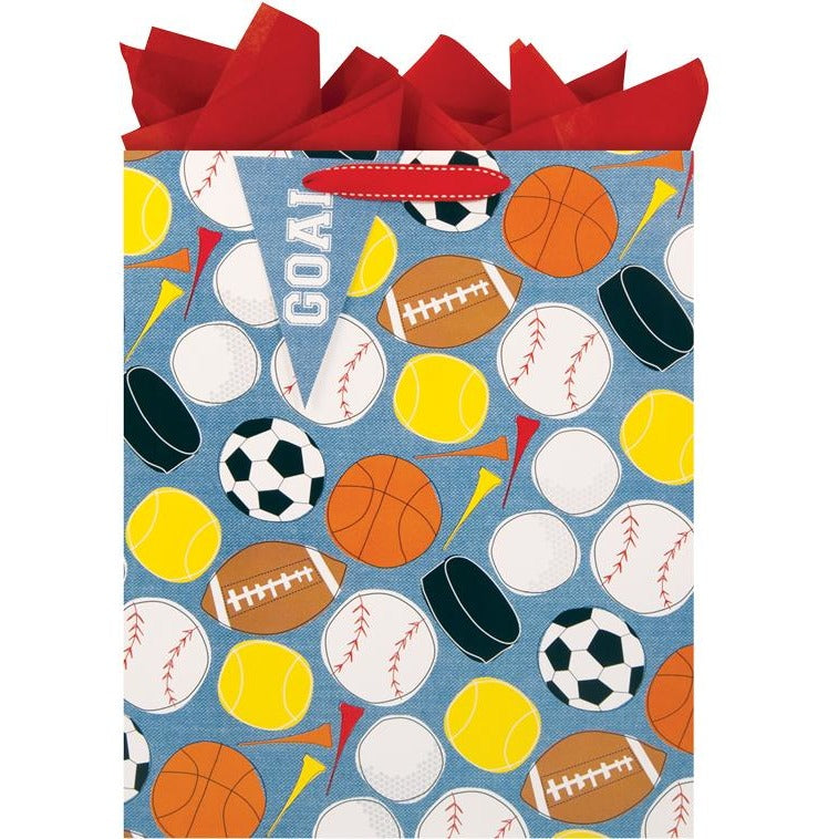 The Gift Wrap Company Sporty Large Tote Bag
