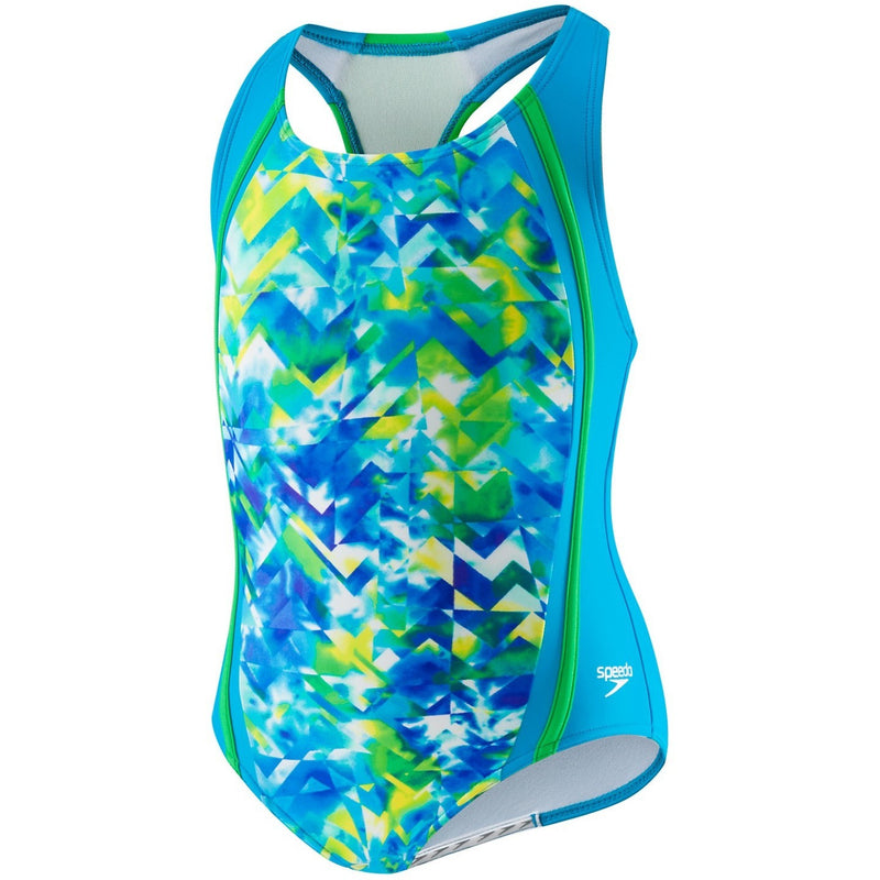 Speedo Girls' Tie Dye Splash Sport Splice (4-6X) - Girls Swimwear - Anglo Dutch Pools and Toys