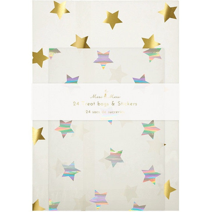 Meri Meri Stars Glassine Treat Bags - Goody Bags - Anglo Dutch Pools and Toys